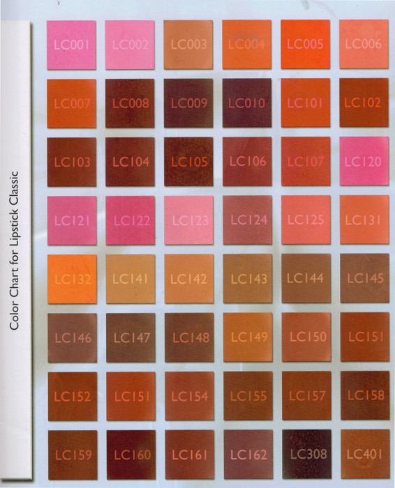 KRYOLAN COLOR CHART